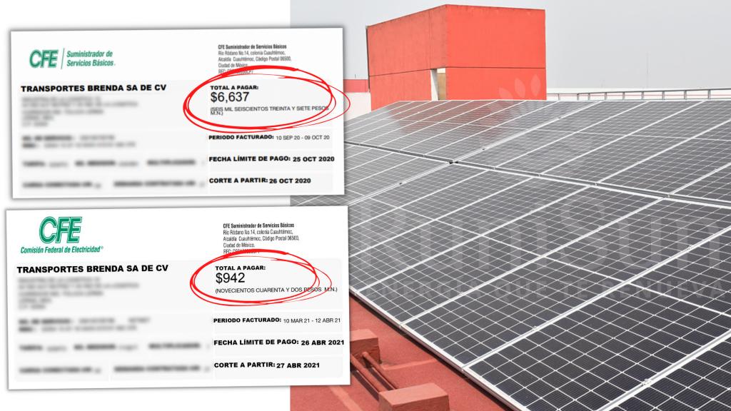 recibo de luz cfe runisun energia solar paneles solares para negocio